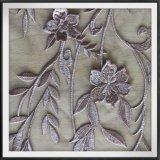 Laço elegante do bordado da flor 3D do laço delicado do bordado 3D para o vestido