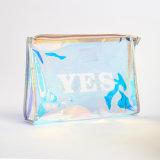 صنع وفقا لطلب الزّبون شفّافة مسيكة واضحة بلاستيكيّة سفر [بفك] بنية محفظة مستحضر تجميل حقيبة