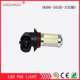 Lampada della lampada 9006-5630-33SMD di giorno di vendite dirette LED della fabbrica con la messa in evidenza modificata veicolo fuori strada del faro antinebbia della lampada della lampada della nebbia dell'obiettivo