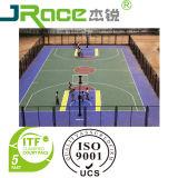 Sencilla cancha de baloncesto al aire libre color cubierta deporte Superficie