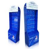 Pop Visualización de cartón con 4 estantes adecuado para el Chcolate, papel soporte de pantalla, el punto de compra Mostrar