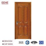 Antike China-Innenhand geschnitzte festes Holz-Tür mit goldenem Formteil