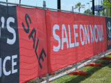 Impression de drapeau de maille de PVC/de drapeau frontière de sécurité de maille/de drapeau tissu de maille