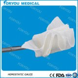 Medizinische blutstillende Gaze mit löslichem Material