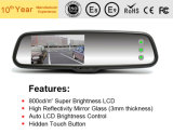 Video dello specchio di Rearview della macchina fotografica dell'automobile dello schermo di tocco 4.3inch con registrazione automatica di luminosità dell'affissione a cristalli liquidi per le automobili di Metà di-Pieno-Formato