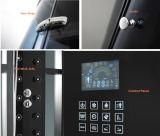 新しい黒6mmの緩和されたガラスの蒸気のシャワー室M-8290