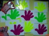 Pegatina de la mano fluorescentes reflectante/Etiqueta reflectante