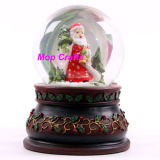 Пластмассовый новогодние подарки ремесел Снежный шар Xmas Санта положение оформление искусства