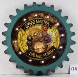 """Decoración Vintage relieve antiguo maestro de la velocidad de """"Vintage"""" Marco de plástico de diseño Decoración de pared de luz LED de marcha/W."""