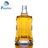 quadratische Glas-Wein-Flasche des Feuerstein-500ml
