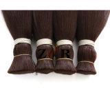 De natuurlijke Massa van het Menselijke Haar van het Haar van Kleur Dubbel Getrokken 100% Braziliaanse Bulk