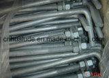 電流を通された鋼鉄Lボルト、Jのボルト、基礎ボルト