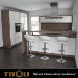 De Kast van het Kabinet van de Opslag van de keuken in Wit 2 PAC eindigt en de Trekkracht Deisgn TV-0075 van de Vinger