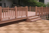 Assoalho ao ar livre impermeável Eco-Friendly gama alta de WPC Balcocony