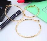 Color oro sobredimensionados círculo grande Hoop Earrings establecido para las mujeres Vintage Steampunk Auriculares Boda regalos de joyas