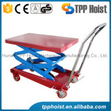 Mini Mobile main plate-forme de tableau de levage hydraulique de rouleau