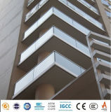 10mm trempé clair stratifié Balcon Prix de panneaux de verre plat