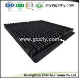 Black ailettes de refroidissement pour LED du dissipateur de chaleur en aluminium en poudre Tansistor