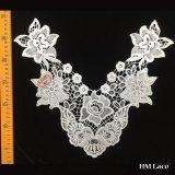 연꽃 Hml8581를 가진 40*32cm 크로셰 뜨개질 형식 고리 손질 레이스는 부속품 공장 판매 대리점을 입는다