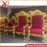 Le Roi en bois massif en cuir Reine Trône Président canapé