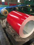 0.38x1250mm recubierto de acero prebarnizado ondulado de color de la hoja de techado