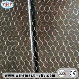 エレクトロによって電流を通される十六進網の金網の塀