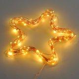 A corda ilumina luzes decorativas da corda da C.C. das luzes feericamente do cobre para a HOME do casamento do Natal