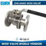 L'acier inoxydable a bridé robinet à tournant sphérique avec ISO5211