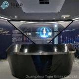 Полупрозрачное полуотражающее стекло / зеркало для фантомного изображения / голографическое стекло для визуализации с подвешиванием (S-F3)