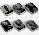 Caisse faite sur commande de cadre de mémoire de bijou de bijou en métal d'impression
