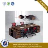 Divisória de madeira L estação de trabalho do escritório da equipe de funcionários da forma (HX-TN1962)