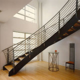 Escaleras de vidrio curvo de moderno diseño de escaleras helicoidales