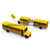 Lecteur flash USB fait sur commande de forme d'autobus scolaire de clé de mémoire USB