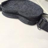 Bolso de la maneta del fieltro de las lanas con en forma de corazón para las compras