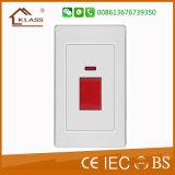 Socket ligero eléctrico del interruptor de la pared del hogar barato del precio