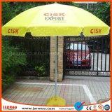 광고를 위해 인쇄하는 로고를 가진 옥외 일요일 우산