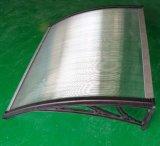 Сень тента Windows поликарбоната Bayer Sabic кронштейна прямой связи с розничной торговлей фабрики алюминиевая