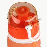 бутылка воды спорта силикона облегченного многоразового Широк-Рта 750ml складная