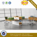 Partition de bureau/poste de travail en bois en verre en aluminium modernes (UL-NM075)