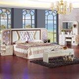Het Bed van de slaapkamer voor het Klassieke Meubilair van het Huis van de Fabriek van het Meubilair Foshan