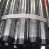 Lo zinco del TUFFO caldo ha galvanizzato il tubo d'acciaio della costruzione ERW del carbonio/tubo in azione