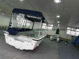 Liya 25FTガソリン双生児モーター水タクシーのボート