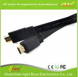 Покрынный золотом плоский кабель 2.0V HDMI