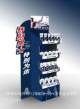 Étalage de stand de papier d'imprimerie de Cmyk pour des bouteilles, étage restant annonçant l'étalage