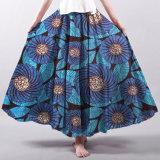 長の卸し売りアフリカの女性の伸縮性があるウエストプリントマキシのスカート