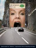 L'extérieur de la publicité grand format Matériel PVC dos noir Flex rouleau Frontlit bannière