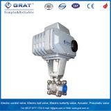 Dn25 SS304 Motor DC24V válvula de bola para el sistema de control automático