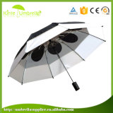 カスタム携帯用自動車の開いた27inch防風の2つのフォールドのゴルフ傘