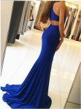 Русалки официальных платье синий спандекс вечерние платья Z206