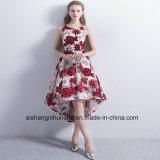 Neue kurze Abend-Kleid-Hochzeits-Kleid-Stickerei-formales Kleid-Abschlussball-Kleider